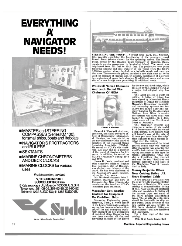Maritime Reporter Magazine, page 18,  May 1981 New York
