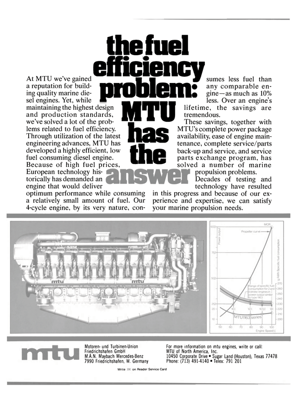 Maritime Reporter Magazine, page 22,  May 1981 MTU of North America Inc.
