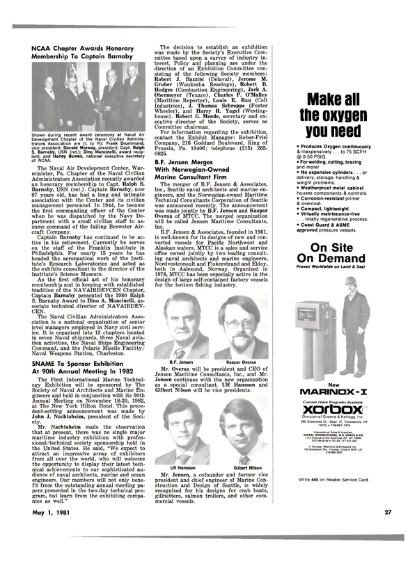 Maritime Reporter Magazine, page 23,  May 1981 New York