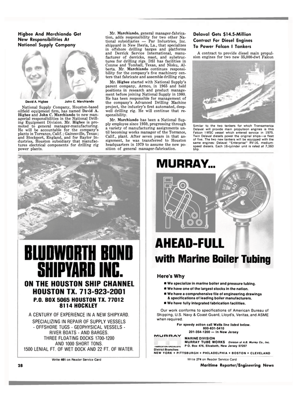 Maritime Reporter Magazine, page 24,  May 1981 Equipment Division