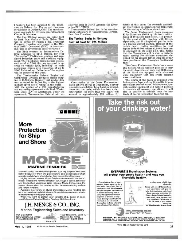 Maritime Reporter Magazine, page 25,  May 1981 Illinois