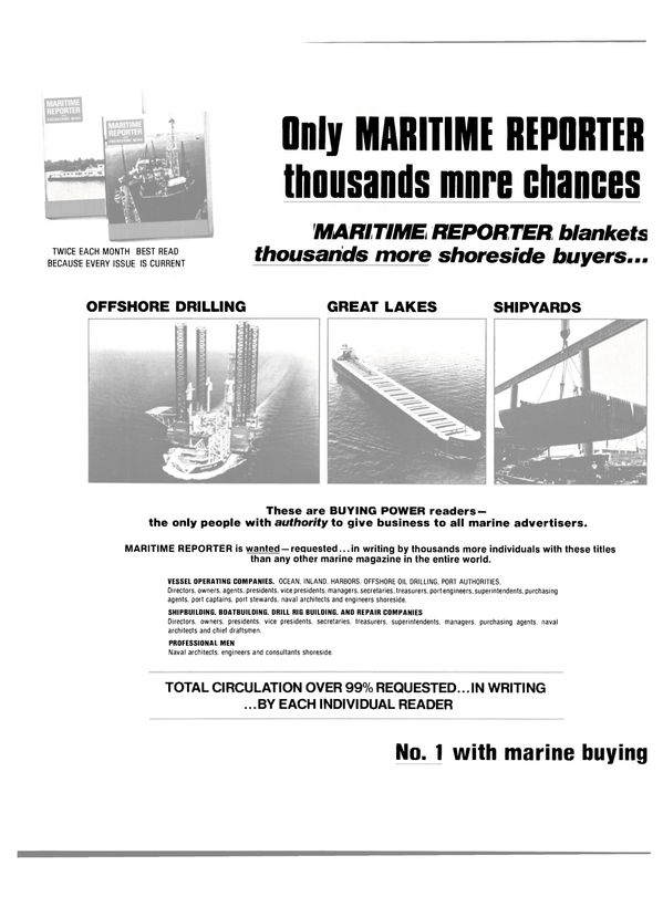 Maritime Reporter Magazine, page 36,  May 1981