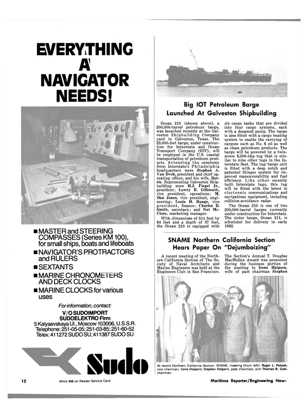 Maritime Reporter Magazine, page 10,  May 15, 1981