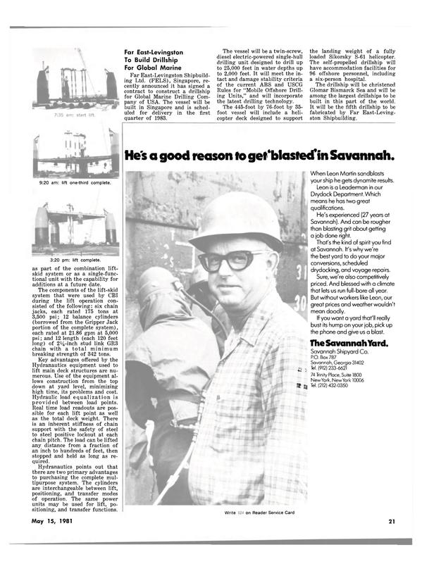 Maritime Reporter Magazine, page 19,  May 15, 1981 Glomar Bismarck Sea
