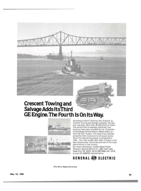 Maritime Reporter Magazine, page 21,  May 15, 1981