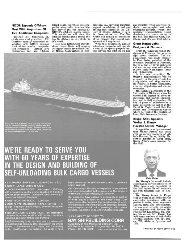 Maritime Reporter Magazine, page 24,  May 15, 1981 Florida
