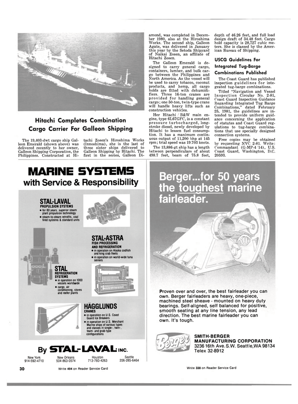 Maritime Reporter Magazine, page 28,  May 15, 1981