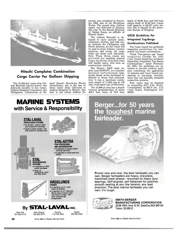 Maritime Reporter Magazine, page 28,  May 15, 1981 Alaska