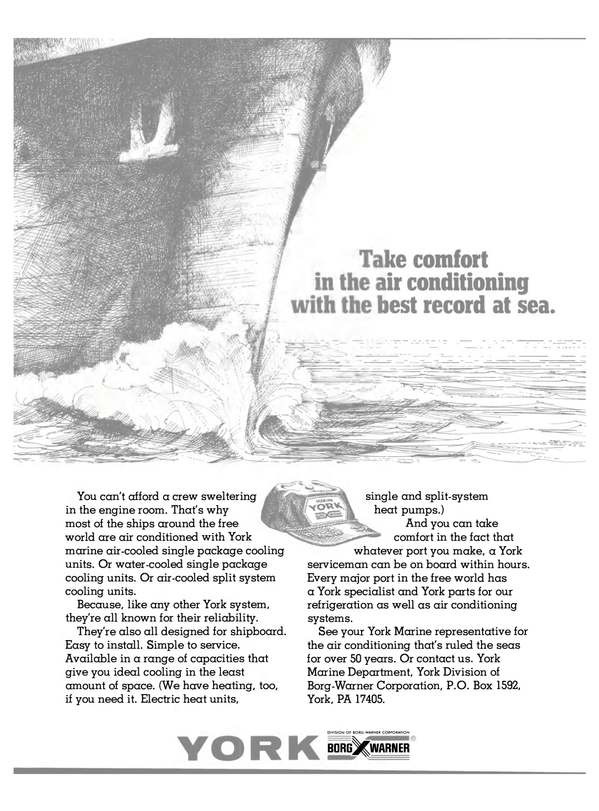 Maritime Reporter Magazine, page 30,  May 15, 1981 York Marine Department