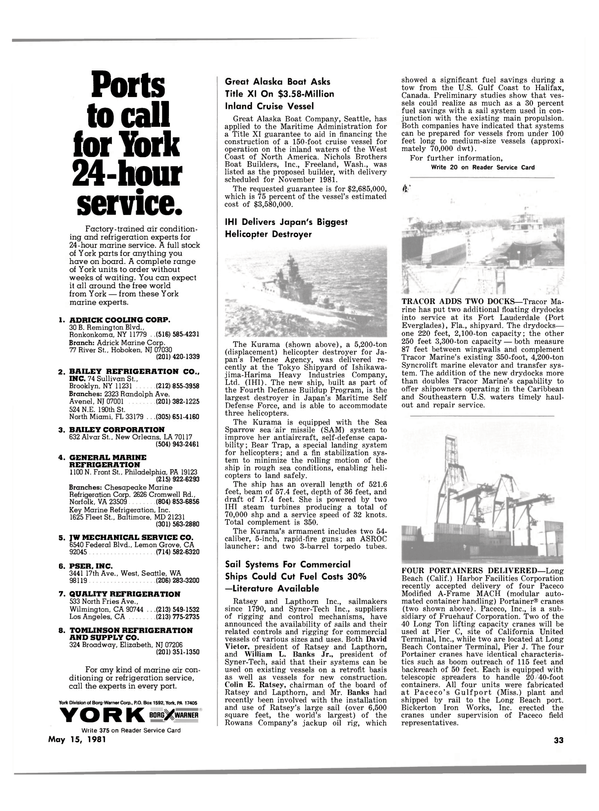 Maritime Reporter Magazine, page 31,  May 15, 1981
