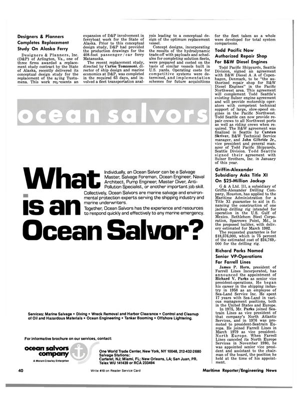 Maritime Reporter Magazine, page 38,  May 15, 1981