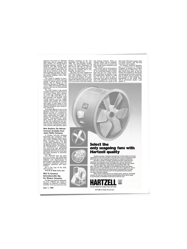 Maritime Reporter Magazine, page 9,  Jun 1981