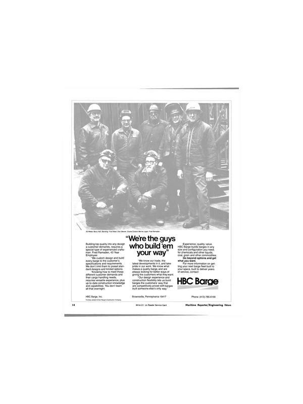 Maritime Reporter Magazine, page 14,  Jun 1981 Bernie Logan