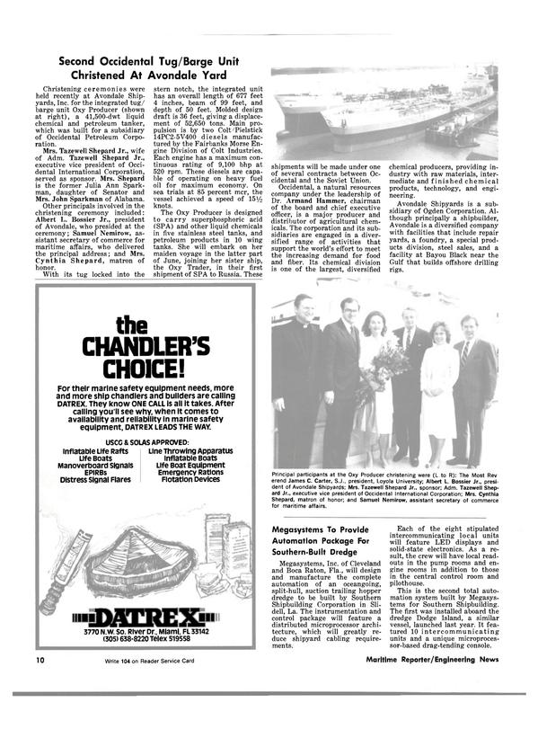 Maritime Reporter Magazine, page 8,  Jun 15, 1981