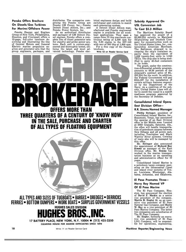Maritime Reporter Magazine, page 16,  Jun 15, 1981