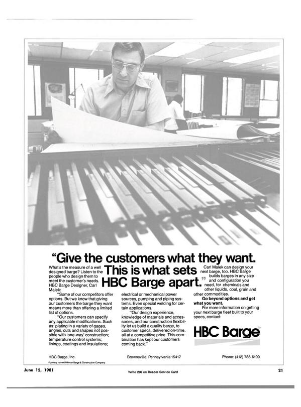 Maritime Reporter Magazine, page 19,  Jun 15, 1981