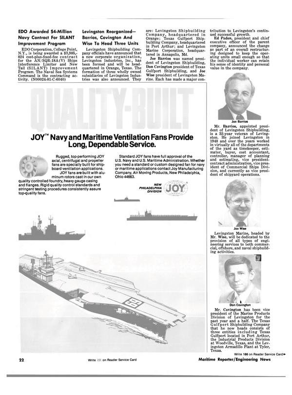 Maritime Reporter Magazine, page 20,  Jun 15, 1981