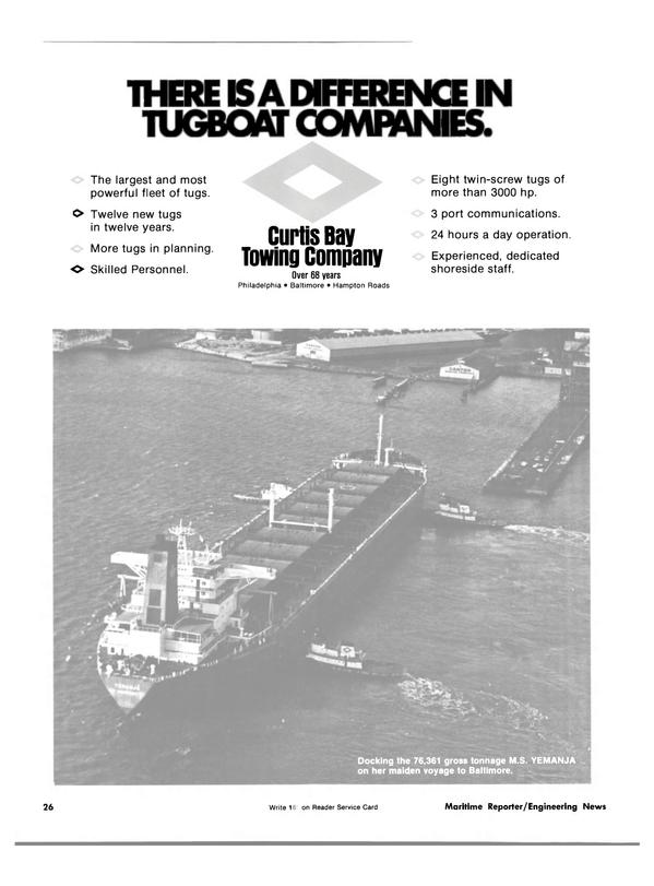 Maritime Reporter Magazine, page 24,  Jun 15, 1981