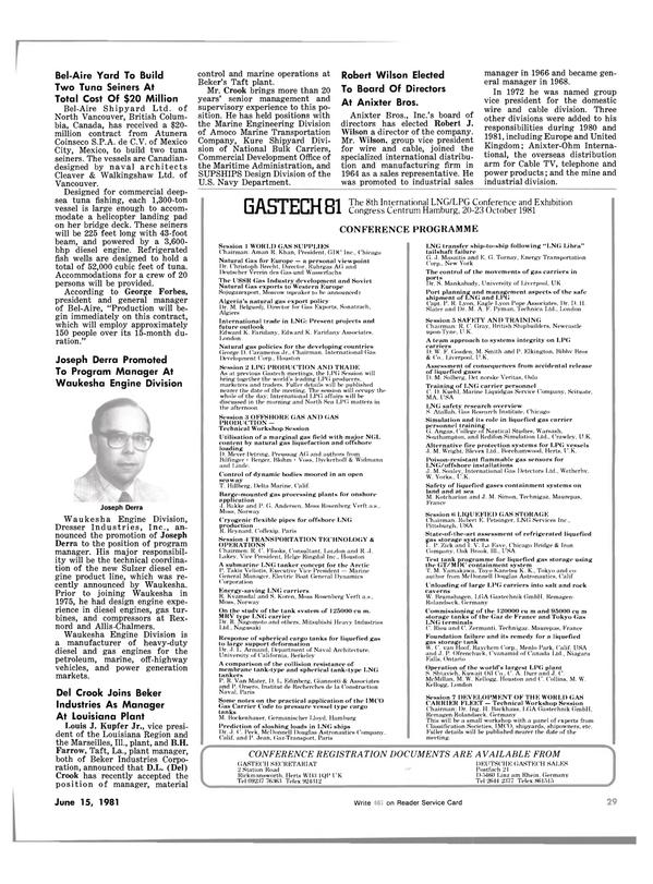 Maritime Reporter Magazine, page 27,  Jun 15, 1981
