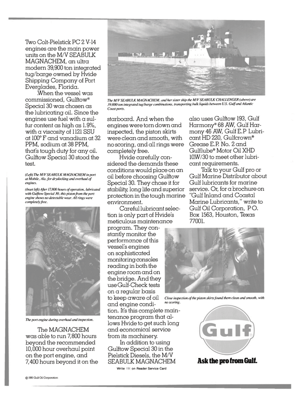 Maritime Reporter Magazine, page 35,  Jun 15, 1981
