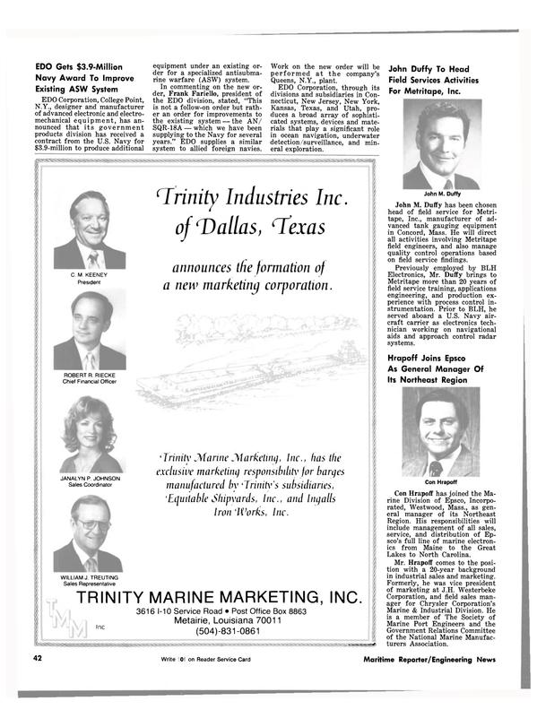 Maritime Reporter Magazine, page 40,  Jun 15, 1981