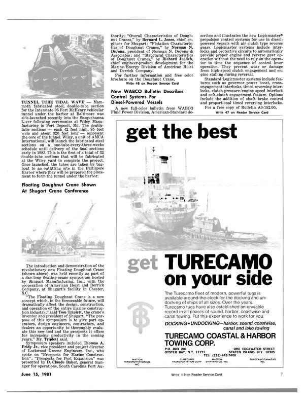 Maritime Reporter Magazine, page 5,  Jun 15, 1981