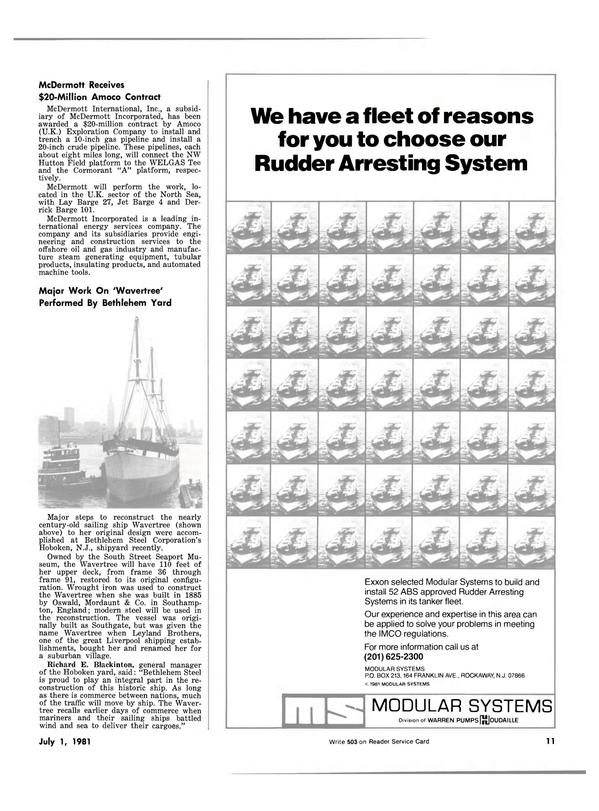 Maritime Reporter Magazine, page 9,  Jul 1981