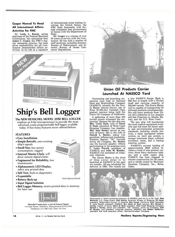 Maritime Reporter Magazine, page 12,  Jul 1981