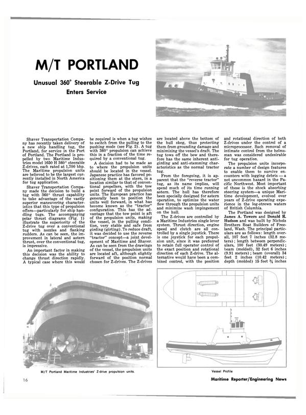 Maritime Reporter Magazine, page 14,  Jul 1981