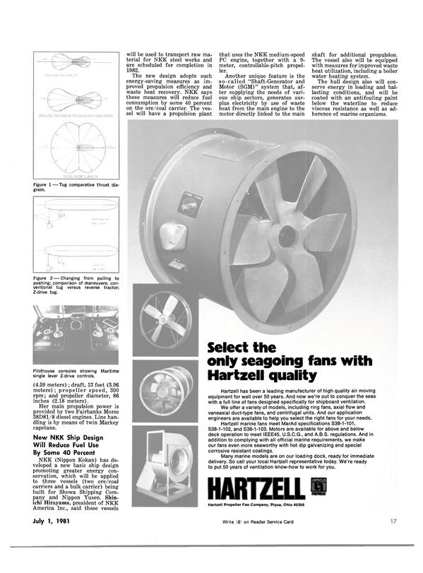 Maritime Reporter Magazine, page 15,  Jul 1981