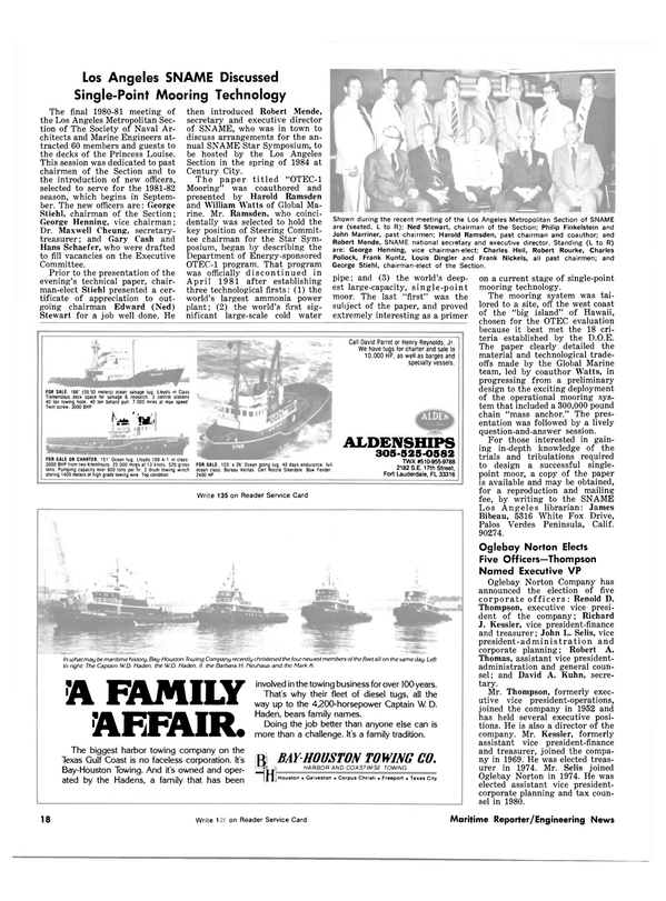 Maritime Reporter Magazine, page 16,  Jul 1981 California