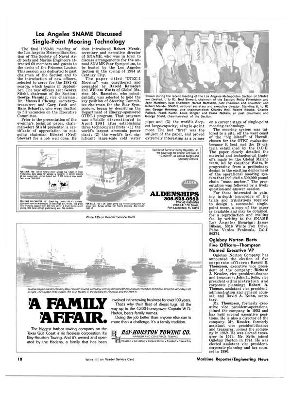 Maritime Reporter Magazine, page 16,  Jul 1981