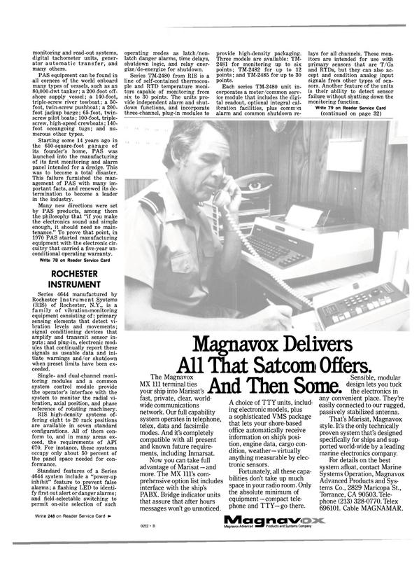 Maritime Reporter Magazine, page 29,  Jul 1981 California