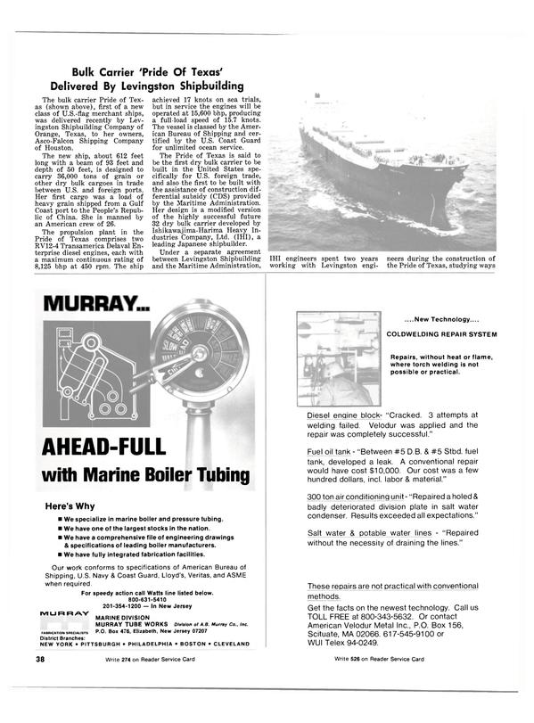 Maritime Reporter Magazine, page 36,  Jul 1981