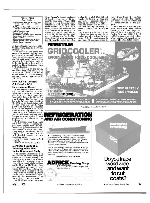 Maritime Reporter Magazine, page 37,  Jul 1981
