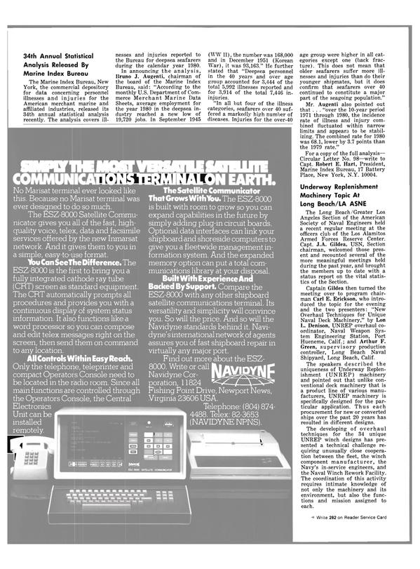 Maritime Reporter Magazine, page 38,  Jul 1981