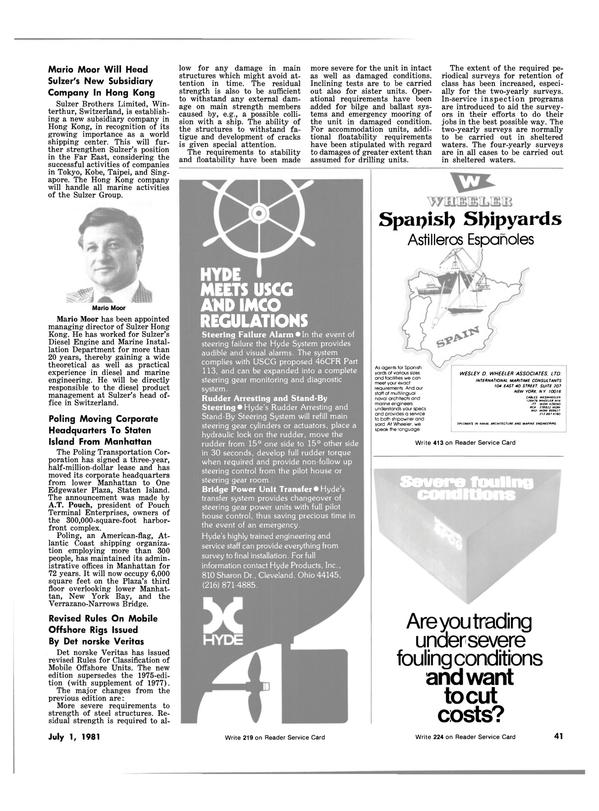 Maritime Reporter Magazine, page 39,  Jul 1981 Sulzer