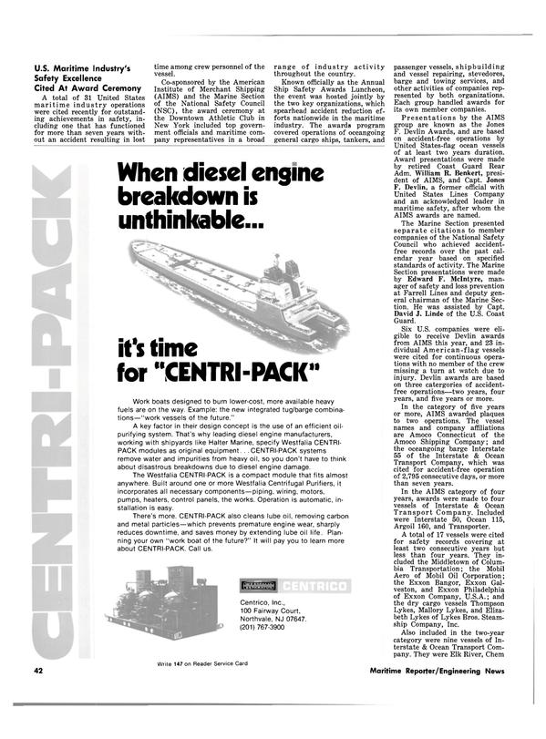 Maritime Reporter Magazine, page 40,  Jul 1981