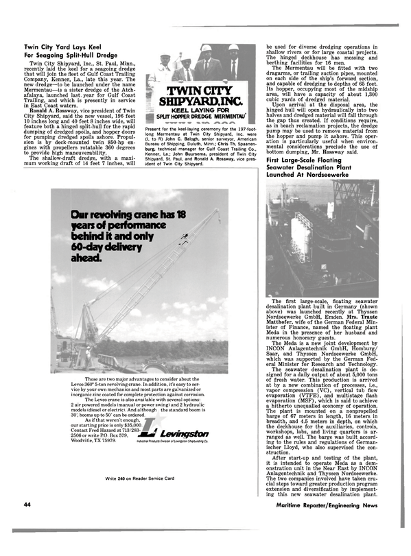 Maritime Reporter Magazine, page 42,  Jul 1981 east coast