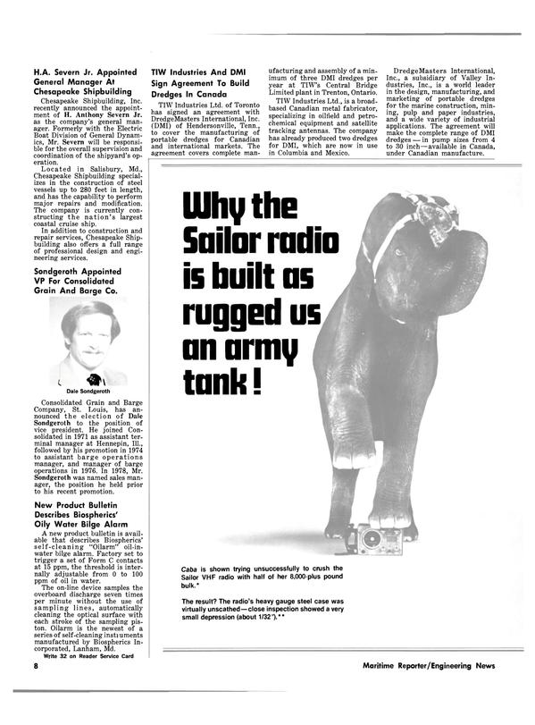 Maritime Reporter Magazine, page 6,  Jul 1981 H. Anthony Severn Jr.