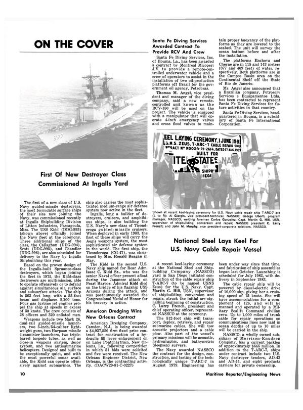 Maritime Reporter Magazine, page 8,  Jul 15, 1981