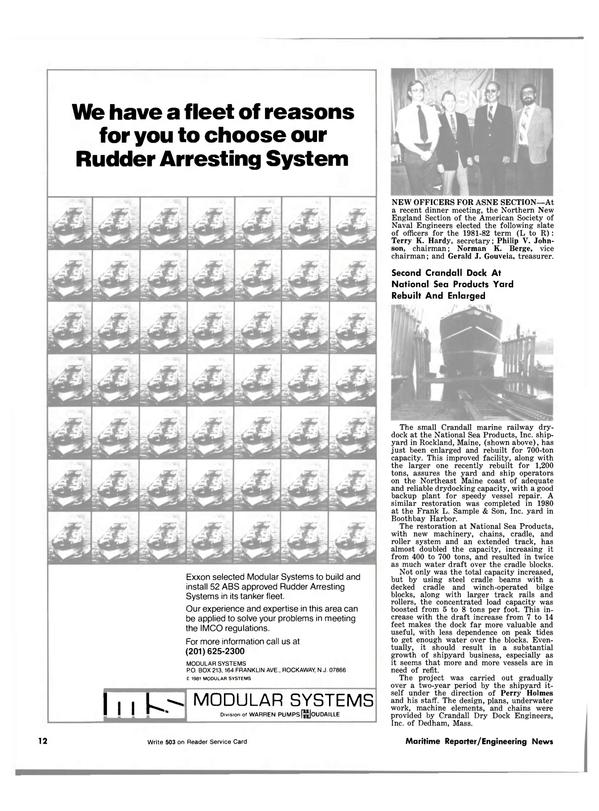 Maritime Reporter Magazine, page 10,  Jul 15, 1981
