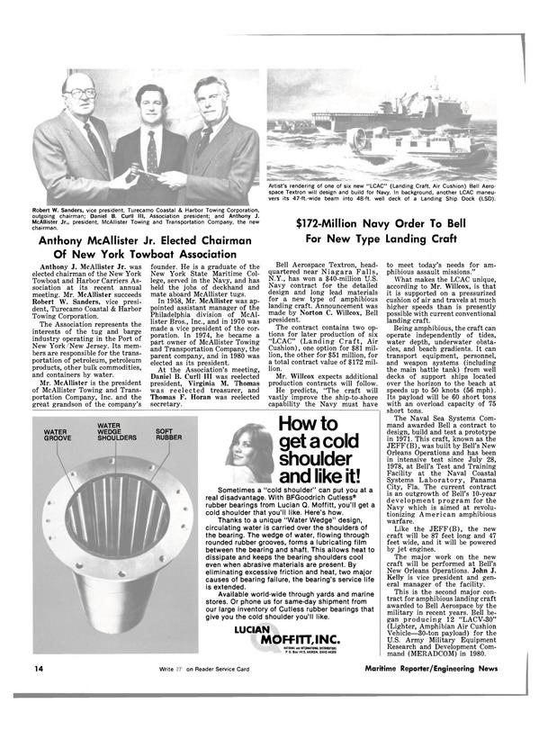 Maritime Reporter Magazine, page 12,  Jul 15, 1981