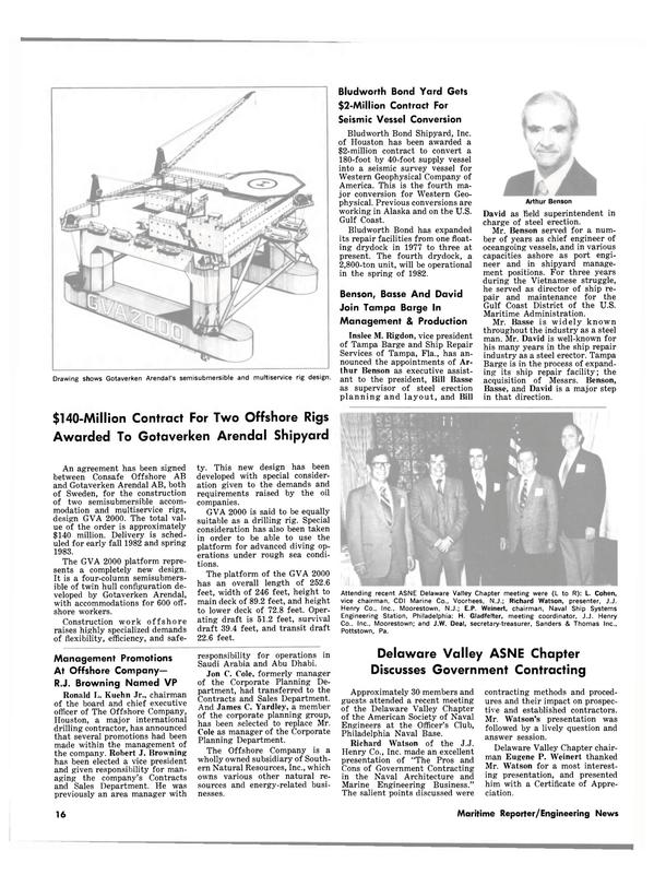 Maritime Reporter Magazine, page 14,  Jul 15, 1981 Delaware
