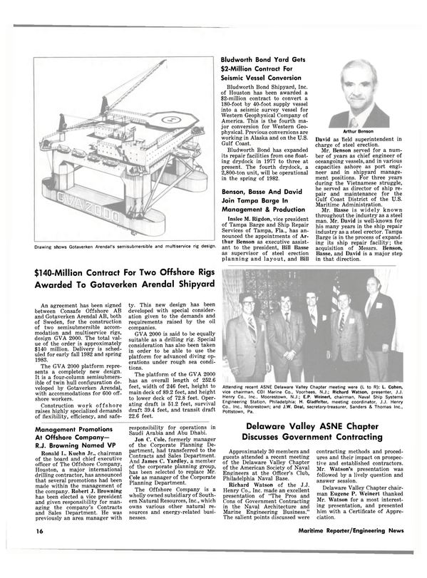 Maritime Reporter Magazine, page 14,  Jul 15, 1981