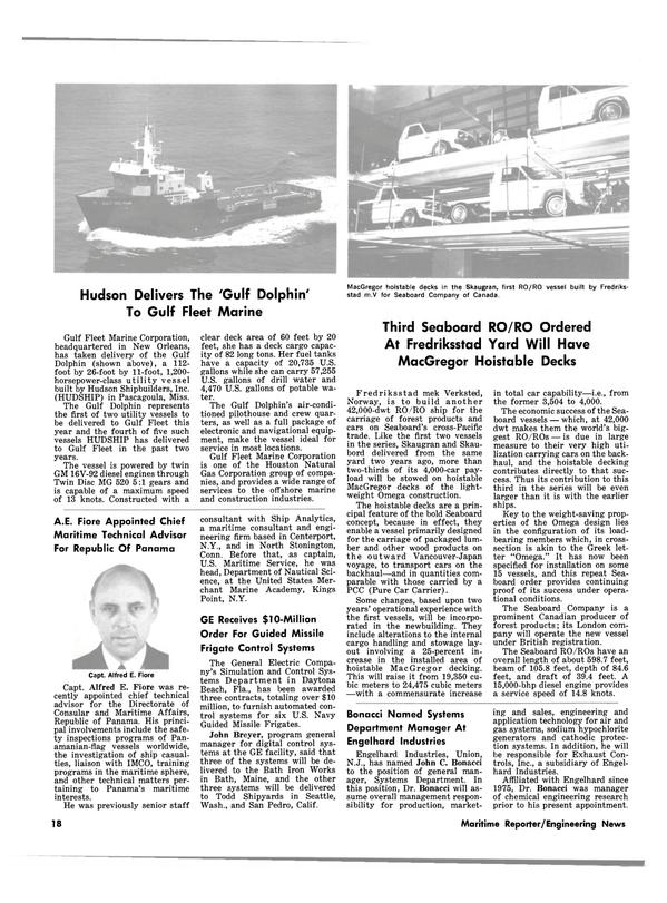 Maritime Reporter Magazine, page 16,  Jul 15, 1981