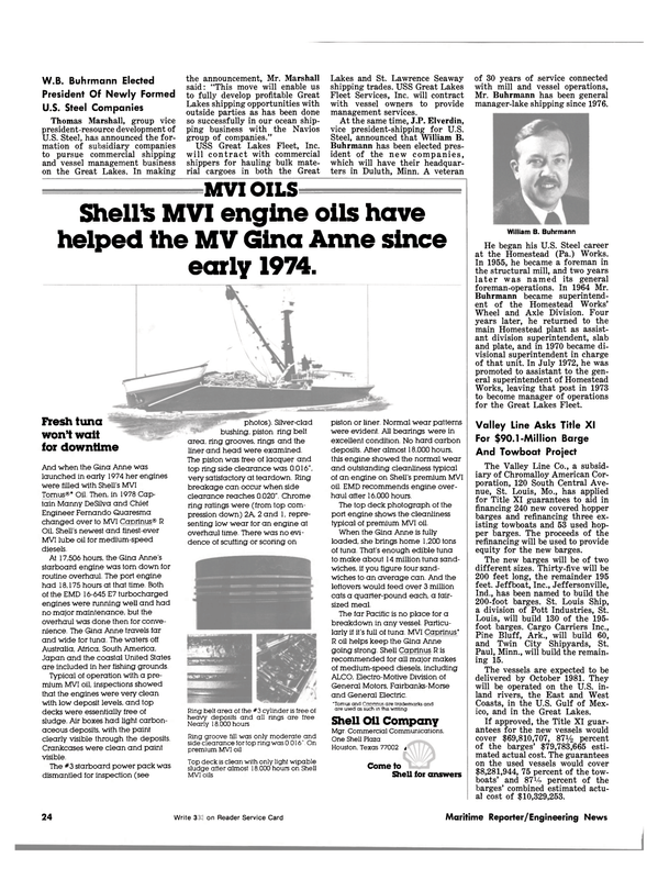 Maritime Reporter Magazine, page 22,  Jul 15, 1981