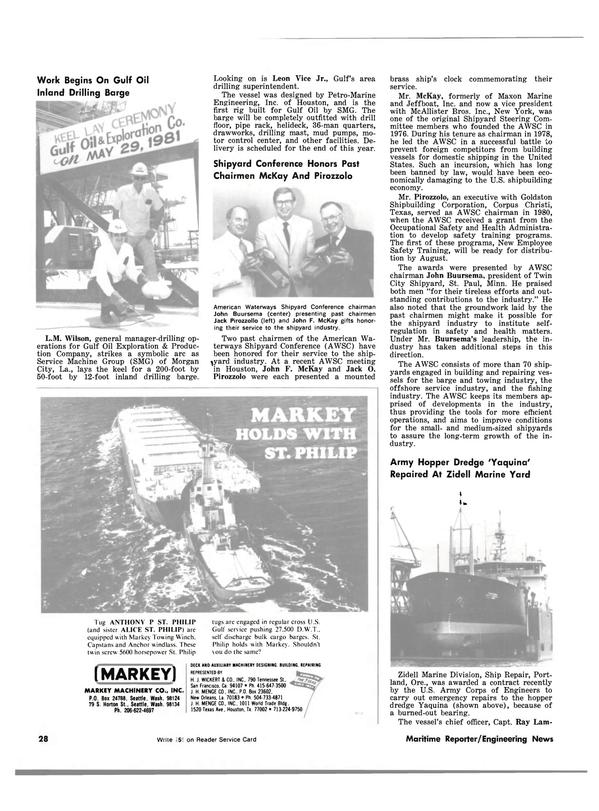Maritime Reporter Magazine, page 26,  Jul 15, 1981 Oregon