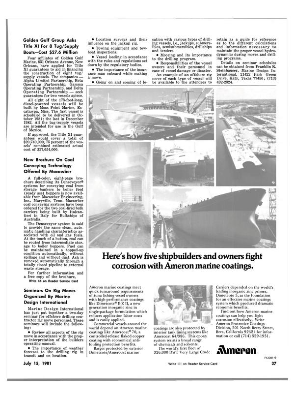 Maritime Reporter Magazine, page 35,  Jul 15, 1981 Mississippi