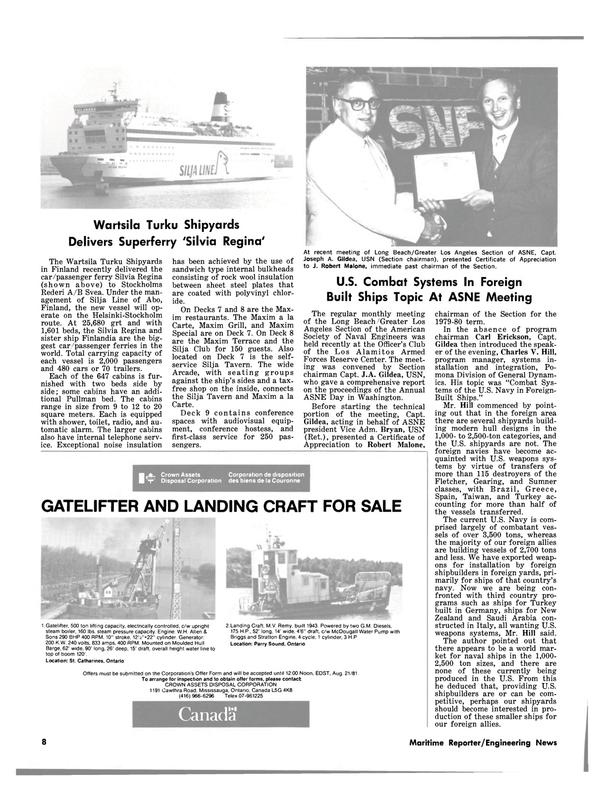 Maritime Reporter Magazine, page 6,  Jul 15, 1981